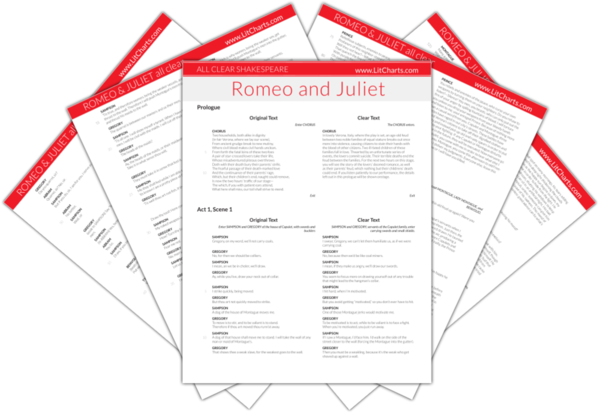 The LitCharts Shakespeare translation of Romeo and Juliet